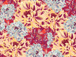 Bright Vintage Blossom Vector Seamless Pattern - 176360673