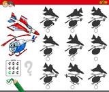educational shadow game with aircraft - 176362246