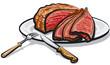 roast beef meat - 176365622