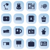 Set Of 16 Office Icons Set.Collection Of Illuminator, Data, Date And Other Elements. - 176365625