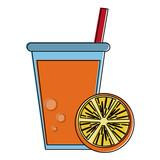 orange fruit juice icon image vector illustration design