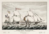 Old illustration of the steam ship Washington. By Currier, publ. in New York, 1847 - 176366817