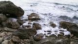 Stony coast of the Adriatic Sea. Montenegro - 176368008