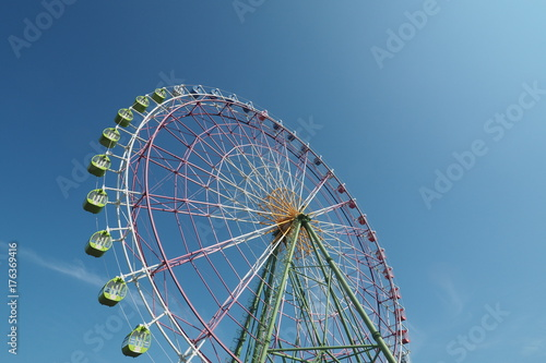 Deurstickers Amusementspark 観覧車 ひたち海浜公園