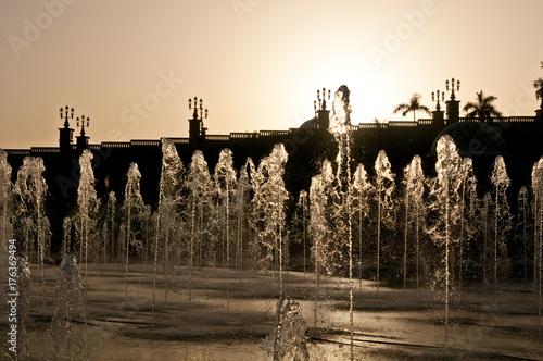 Spoed canvasdoek 2cm dik Abu Dhabi Abend in Abu Dhabi