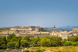 view to historic centre of kerkyra with new fortress, corfu island, greece - 176374218