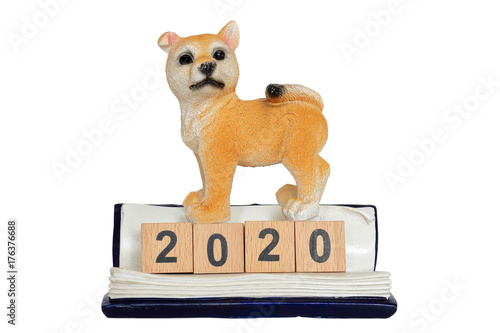 Poster 柴犬と2020年