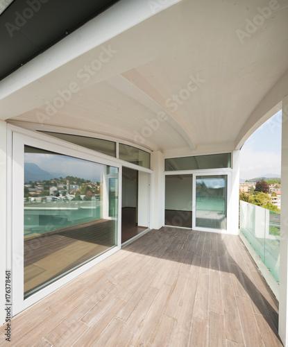 Fridge magnet luxury apartment balcony, attic