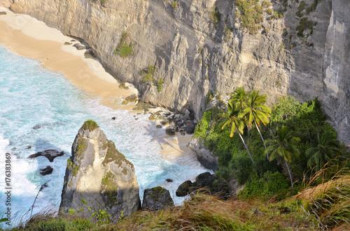 Fotobehang Bali Secret beach in Nusa Penida island, Klungkung regency, Bali, Indonesia