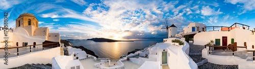 Sunset on Oia, Santorini. Greece