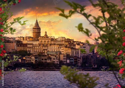 Galata Tower, turkey, istanbul Poster