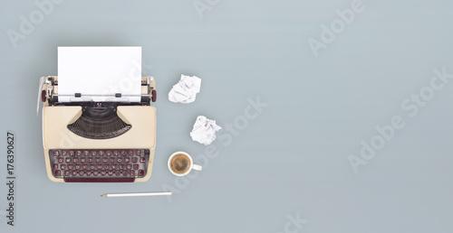 Foto Murales overhead retro typewriter banner