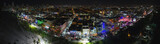 Aerial night panorama Miami Beach Ocean Drive