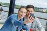 taking selfie on the harbor - 176407400