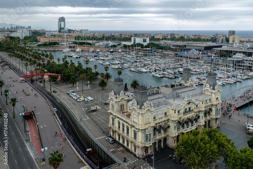 Deurstickers Barcelona Barcellona, vista sul porto