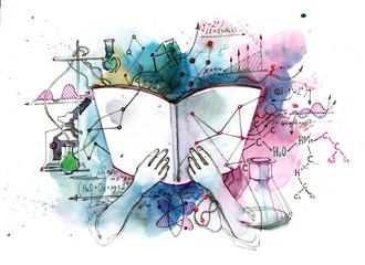 Textbook of chemistry © okalinichenko