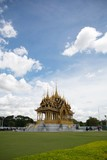 Bangkok, Thailand, 28 September 2017, unrecognized people visiting Barom Mangalanusarani Pavillian in the area of Ananta Samakhom Throne Hall