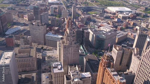 Aerial Michigan Detroit July 2017 Sunny Day 4K Inspire 2  © joshuajohnson