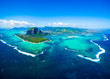 Aerial view of Mauritius island