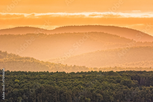 Fotobehang Beige Adirondacks Mountains with clouds