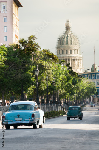 Old cars in the streets of old Havana.cuba Poster