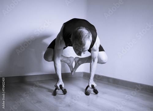 Fototapeta Man made yoga asana