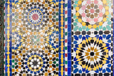 Traditional mosaic in Marrakesh, Morocco