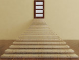 stairs and the door, way to success, 3d - 176429887