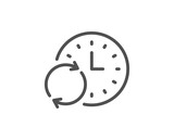 Time line icon. Update clock sign.