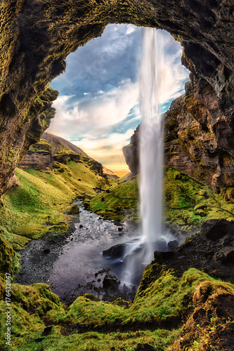 Waterfall in Iceland - 176432847