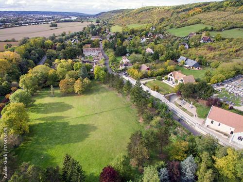 Fotobehang Pistache Côté ouest de Giverny (Eure, France)