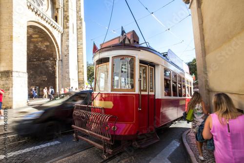 historic tram lisbon portugal