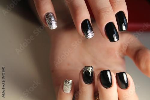 Fotobehang Manicure Fashionable design of manicure