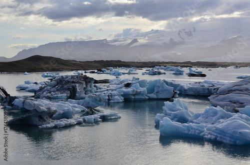 Keuken foto achterwand Donkergrijs Glacier lagoon