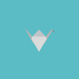 Flat Icon Origami Element. Vector Illustration Of Flat Icon Paper Figure Isolated On Clean Background. Can Be Used As Origami, Paper And Figure Symbols. - 176439662