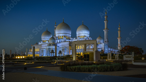 Foto op Canvas Abu Dhabi Sheikh Zayed Grand Mosque in Abu Dhabi 6