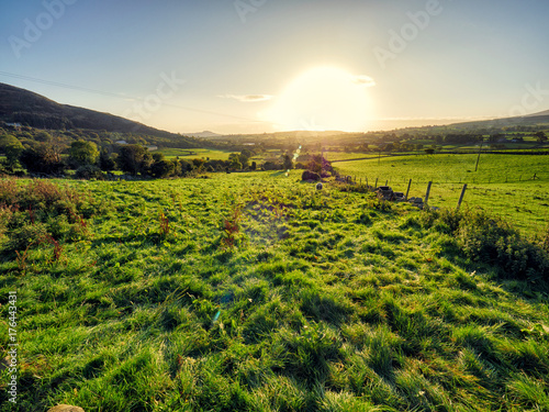 Fotobehang Zomer Early Autumn countryside morning,Northern Ireland