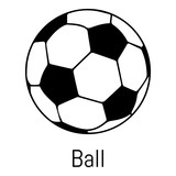 Football ball icon, simple black style - 176444057