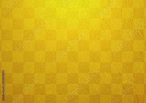 金色の市松模様
