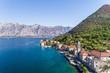 Quadro Aerial view of Stoliv, Bay Kotor, Montenegro