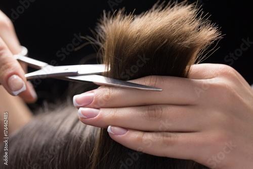 Foto op Canvas Kapsalon Hairdresser.