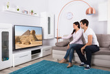 Couple Watching Television At Home - 176466465