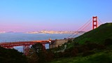 Iconic Golden Gate Bridge, suspension bridge between San Francisco Bay and Pacific Ocean, links peninsula to Marin County, carries Route 101 and California State Route 1, symbol of United States - 176467680