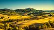 Quadro Tuscany summer, Montepulciano medieval village. Siena, Italy
