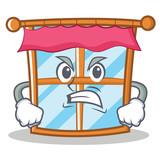 Angry windows character cartoon style