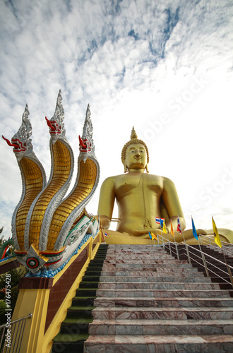 Aluminium Thailand Buddha statue