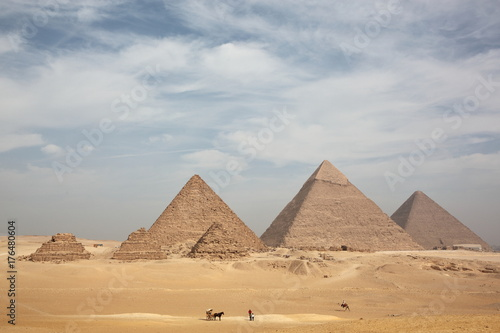Great Egyptian pyramids in Giza, Cairo  Poster