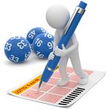 3D Männchen spielt Lotto - 176482685