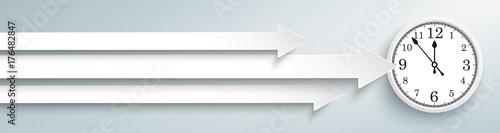 3 Arrows Clock Header