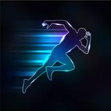 silhouette homme vitesse - 176485283